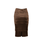Authentic Second Hand Yves Saint Laurent Tiered Pencil Skirt (PSS-067-00215) - Thumbnail 1