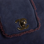 Authentic Vintage Chanel Suede Shearling Flap Bag (PSS-606-00087) - Thumbnail 4