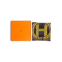 Authentic Second Hand Hermès L'Effet Domino Silk Scarf (PSS-973-00003) - Thumbnail 8