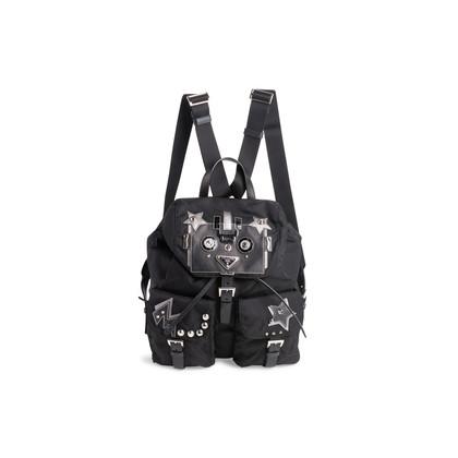 Authentic Second Hand Prada Tessuto Nylon Robot Backpack (PSS-606-00093)