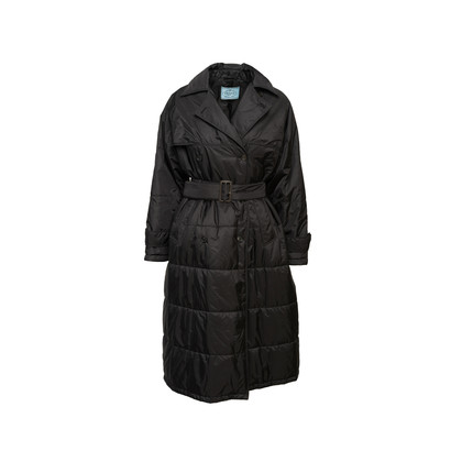 Authentic Second Hand Prada Long Quilted Puffer Coat (PSS-606-00094)