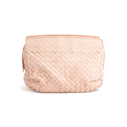 Authentic Second Hand Bottega Veneta Woven Travel Pouch (PSS-097-00692)