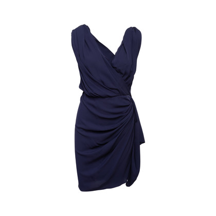 Authentic Second Hand Lanvin Draped Silk Dress (PSS-097-00708)
