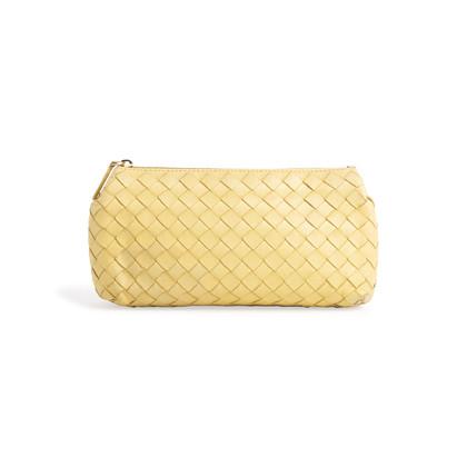 Authentic Second Hand Bottega Veneta Woven Travel Pouch (PSS-097-00766)