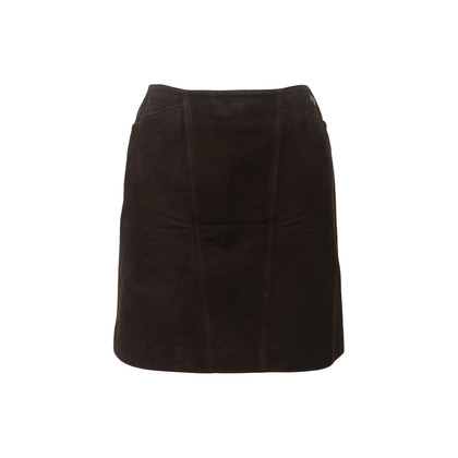 Authentic Second Hand Chanel Suede Skirt (PSS-067-00190)