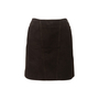 Authentic Second Hand Chanel Suede Skirt (PSS-067-00190) - Thumbnail 0