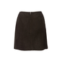 Authentic Second Hand Chanel Suede Skirt (PSS-067-00190) - Thumbnail 1