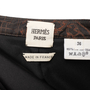 Authentic Second Hand Hermès Embroidered Cityscape Skirt (PSS-067-00186) - Thumbnail 2