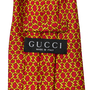 Authentic Second Hand Gucci Chain Pattern Tie (PSS-067-00172) - Thumbnail 2
