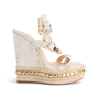 Authentic Second Hand Christian Louboutin Cataclou Embellished Wedge Sandals (PSS-985-00015) - Thumbnail 1