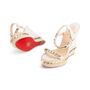 Authentic Second Hand Christian Louboutin Cataclou Embellished Wedge Sandals (PSS-985-00015) - Thumbnail 4