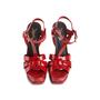 Authentic Second Hand Yves Saint Laurent Patent Tribute Sandals (PSS-985-00018) - Thumbnail 0