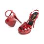Authentic Second Hand Yves Saint Laurent Patent Tribute Sandals (PSS-985-00018) - Thumbnail 4