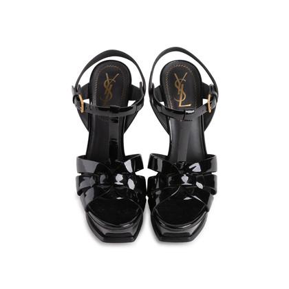 Authentic Second Hand Yves Saint Laurent Patent Tribute Sandals (PSS-985-00019)