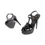 Authentic Second Hand Yves Saint Laurent Patent Tribute Sandals (PSS-985-00019) - Thumbnail 4
