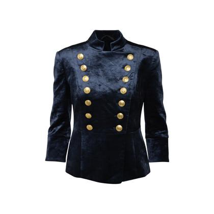 Authentic Second Hand Pierre Balmain Velvet Military Jacket (PSS-356-00072)