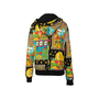 Authentic Second Hand Moschino Casino Printed Hoodie (PSS-356-00082) - Thumbnail 1
