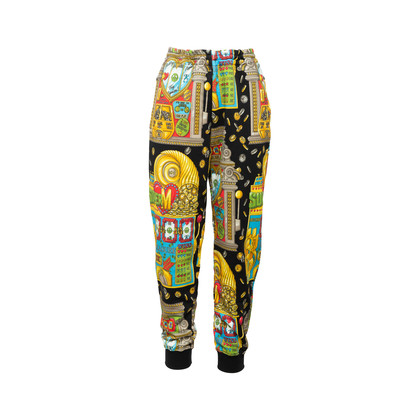Authentic Second Hand Moschino Casino Printed Track Pants (PSS-356-00083)