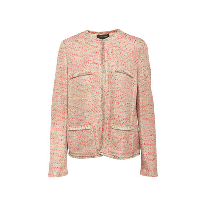 Authentic Second Hand St. John Metallic Tweed Jacket (PSS-356-00089)