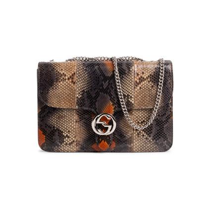 Authentic Second Hand Gucci Python GG Shoulder Bag (PSS-831-00011)