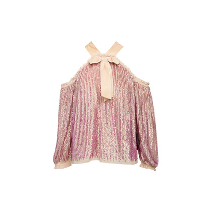 Authentic Second Hand Needle & Thread Kaleidoscope Sequinned Top (PSS-356-00147)