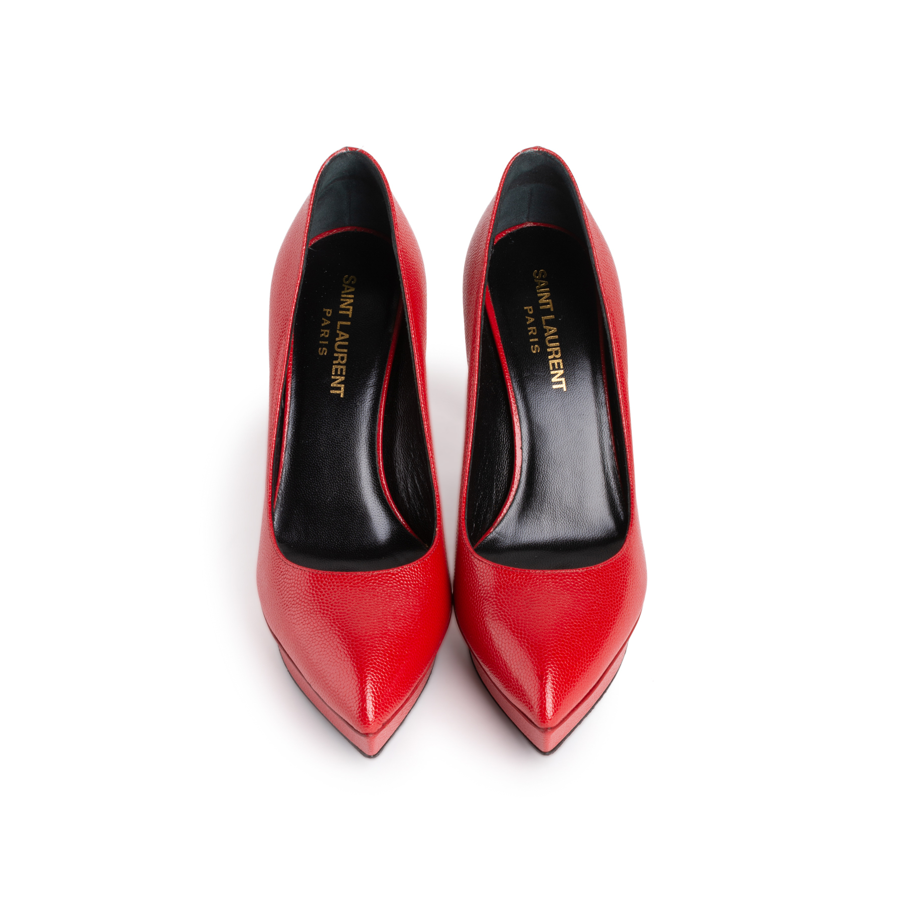 Authentic Second Hand Saint Laurent Janis Pointed Toe Platform Pumps Pss 108 00038 The Fifth Collection