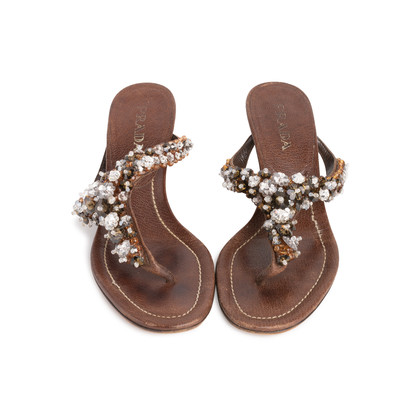 Authentic Second Hand Prada Embellished Sandals (PSS-981-00008)