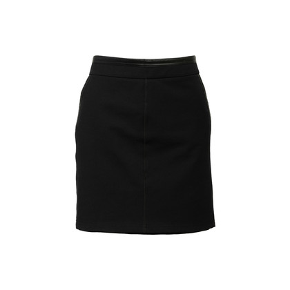 Authentic Second Hand Gucci Leather-Trimmed Skirt (PSS-984-00008)