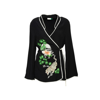 Authentic Second Hand Rixo Blossom Wrap Embroidered Blouse (PSS-356-00115)