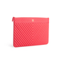 Authentic Second Hand Chanel Chevron O Case Pouch (PSS-074-00271) - Thumbnail 1