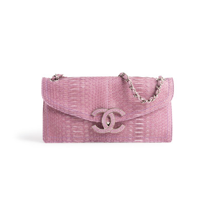 Authentic Second Hand Chanel Python Flap Bag (PSS-074-00272)