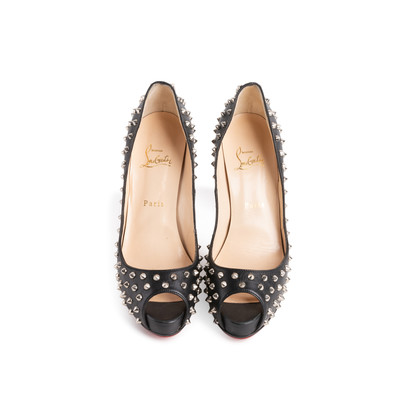 Authentic Second Hand Christian Louboutin Very Prive Spikes Pumps (PSS-074-00292)