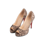 Authentic Second Hand Christian Louboutin Lace Yoyo Zeppa Pumps (PSS-074-00293) - Thumbnail 3