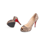Authentic Second Hand Christian Louboutin Lace Yoyo Zeppa Pumps (PSS-074-00293) - Thumbnail 4