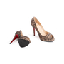 Authentic Second Hand Christian Louboutin Lace Yoyo Zeppa Pumps (PSS-074-00293) - Thumbnail 5