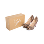 Authentic Second Hand Christian Louboutin Lace Yoyo Zeppa Pumps (PSS-074-00293) - Thumbnail 7