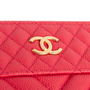 Authentic Second Hand Chanel Chevron O Case Pouch (PSS-074-00271) - Thumbnail 4