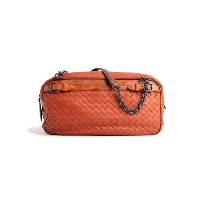 Authentic Second Hand Bottega Veneta Intrecciato Karung Shoulder Bag (PSS-990-00025)