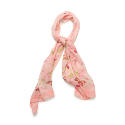 Authentic Second Hand Salvatore Ferragamo Butterfly Floral Sheer Scarf (PSS-990-00048)