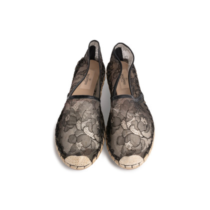 Authentic Second Hand Valentino Lace Espadrilles (PSS-074-00277)
