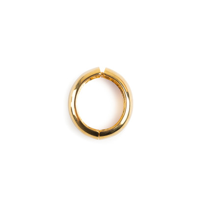 Authentic Second Hand Kenneth Jay Lane Wide Gold Bangle (PSS-356-00170)