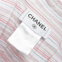 Authentic Second Hand Chanel Embroidered Stripe Top (PSS-067-00270) - Thumbnail 3