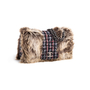 Authentic Second Hand Chanel Faux Fur Tweed Flap Bag (PSS-990-00094) - Thumbnail 1