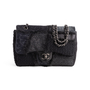 Authentic Second Hand Chanel Faux Fur Patchwork Jumbo Flap Bag (PSS-990-00096) - Thumbnail 0
