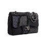 Authentic Second Hand Chanel Faux Fur Patchwork Jumbo Flap Bag (PSS-990-00096) - Thumbnail 1