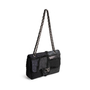 Authentic Second Hand Chanel Faux Fur Patchwork Jumbo Flap Bag (PSS-990-00096) - Thumbnail 4