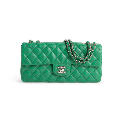Authentic Second Hand Chanel Perforated East West Flap Bag (PSS-990-00107)