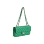 Authentic Second Hand Chanel Perforated East West Flap Bag (PSS-990-00107) - Thumbnail 4
