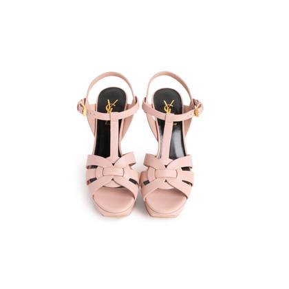 Authentic Second Hand Yves Saint Laurent Tribute Sandals (PSS-A09-00011)