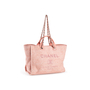 Authentic Second Hand Chanel Deauville Canvas Tote (PSS-097-00868) - Thumbnail 4